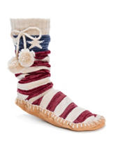 MUK LUKS Stars & Stripes Slipper Socks