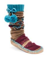 MUK LUKS Aztec Print Slipper Socks