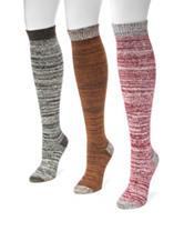 MUK LUKS 3-pk. Marled Color Block Knee High Socks