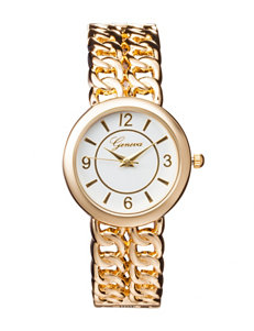 Global Time Gold-tone Bangle Watch