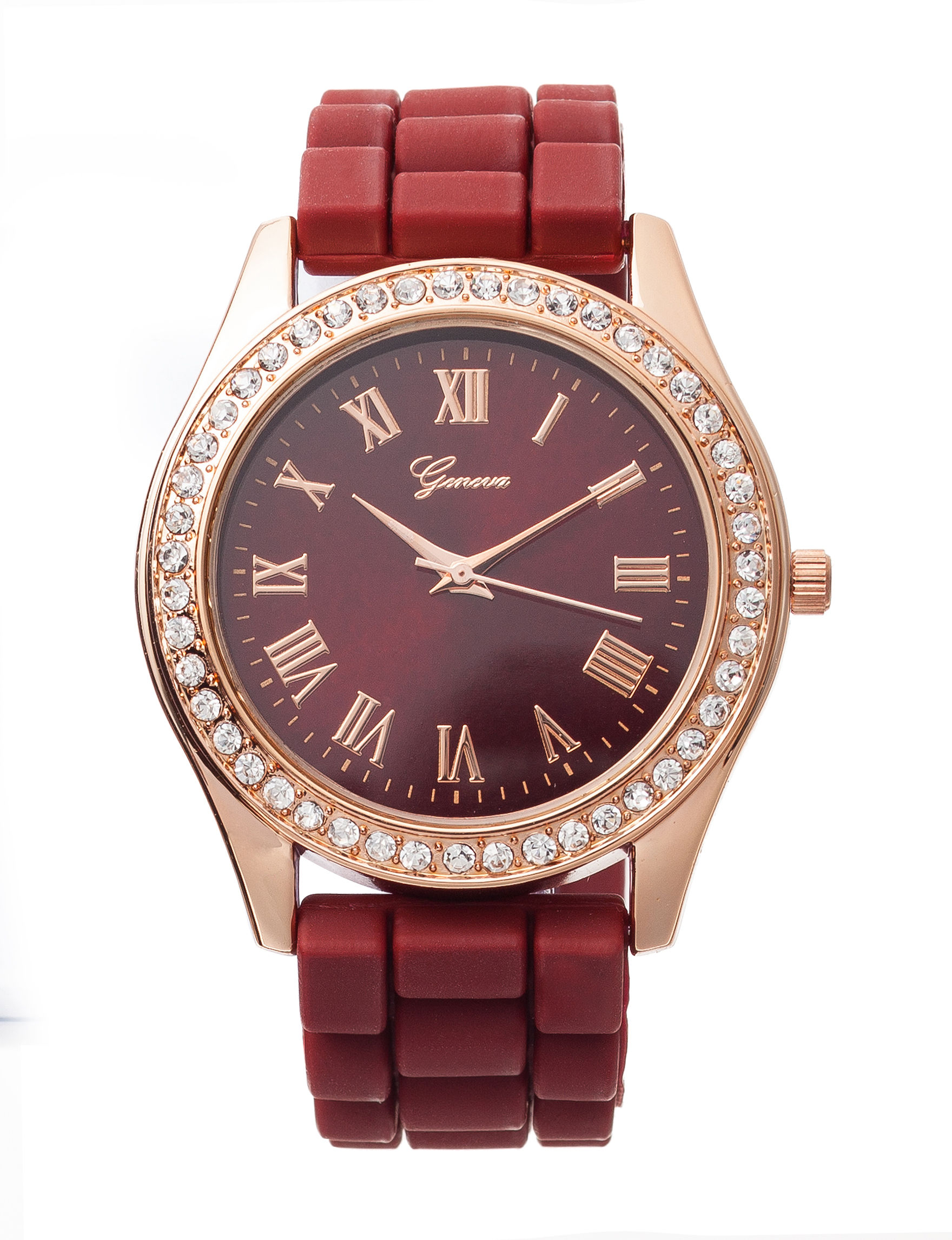 Global Time Burgundy Fashion Watches