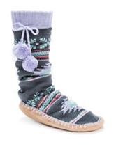 MUK LUKS Multicolor Aztec Print Slipper Socks
