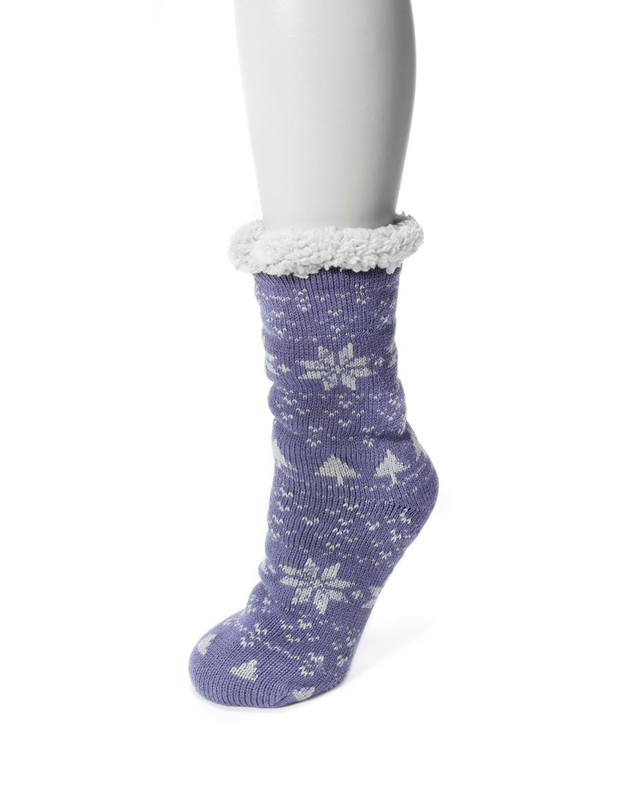 Muk Luks Purple Socks