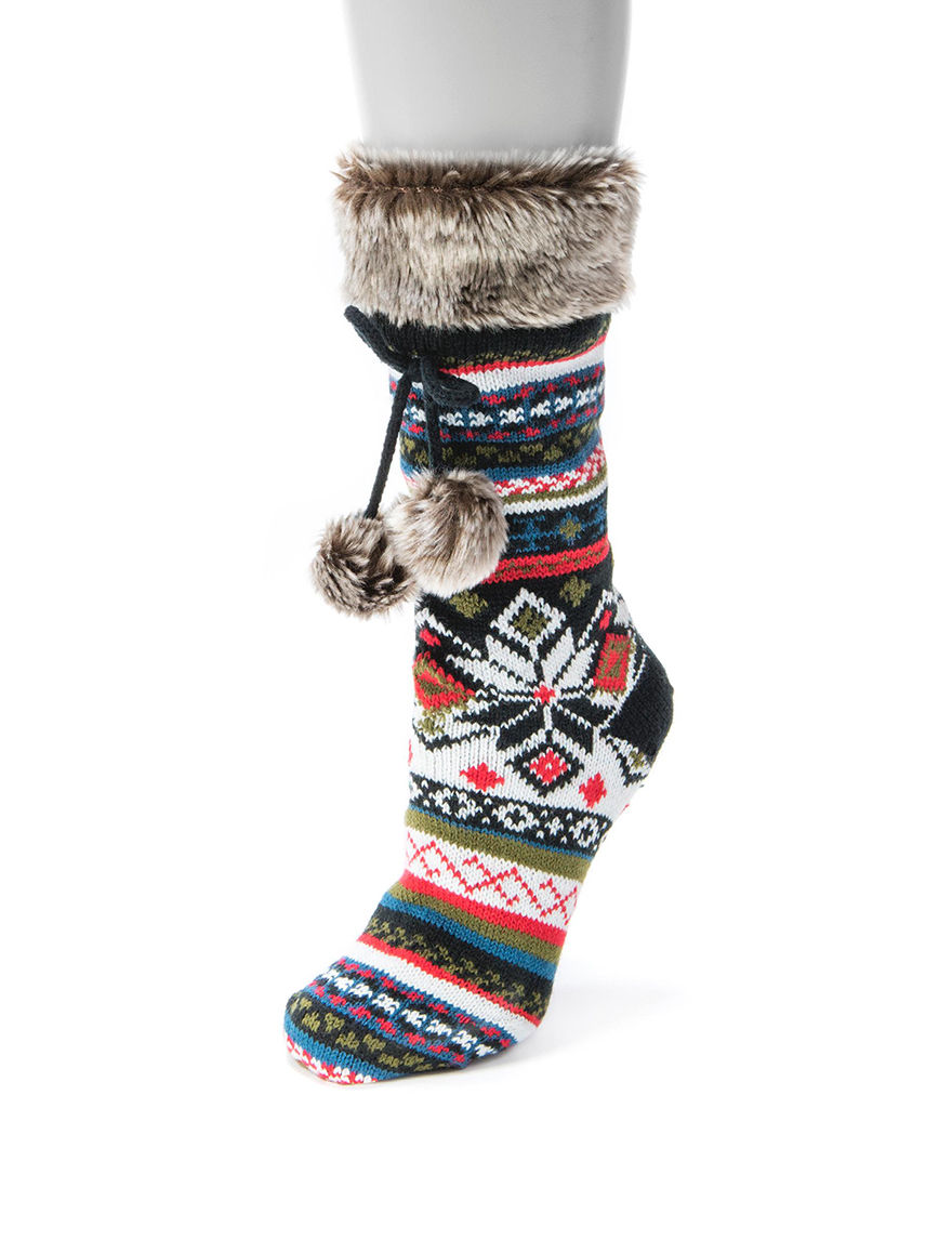 Muk Luks Black Socks