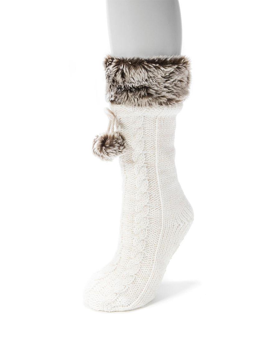 Muk Luks White Socks