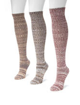 MUK LUKS 3-pk. Gaucho Girl Marled Knee High Socks