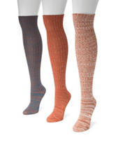 MUK LUKS 3-pk. Multi Marled Knee High Socks