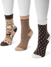 MUK LUKS 3-pk. Desert Holiday Boot Socks