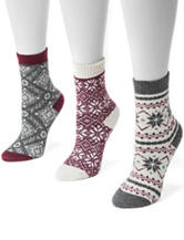 MUK LUKS 3-pk. Holiday Boot Socks