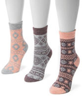 MUK LUKS 3-pk. Pastel Holiday Boot Socks