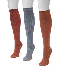 MUK LUKS 3-pk. Metallic Knee High Socks