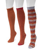 MUK LUKS 3-pk. Fuzzy Yarn Microfiber Knee High Socks