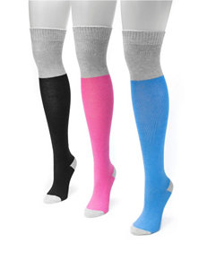 MUK LUKS 3-pk. Color Block Over the Knee Socks