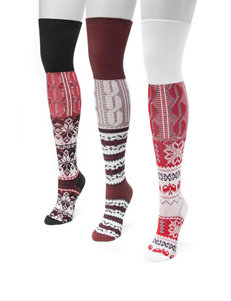 MUK LUKS 3-pk. Winter Lodge Over the Knee Socks