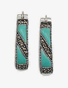 Marsala  Hoops Earrings Fine Jewelry