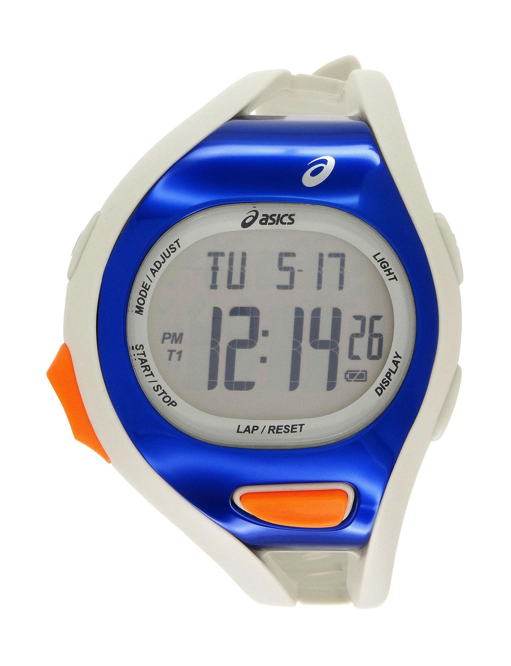 Asics White / Blue Sport Watches