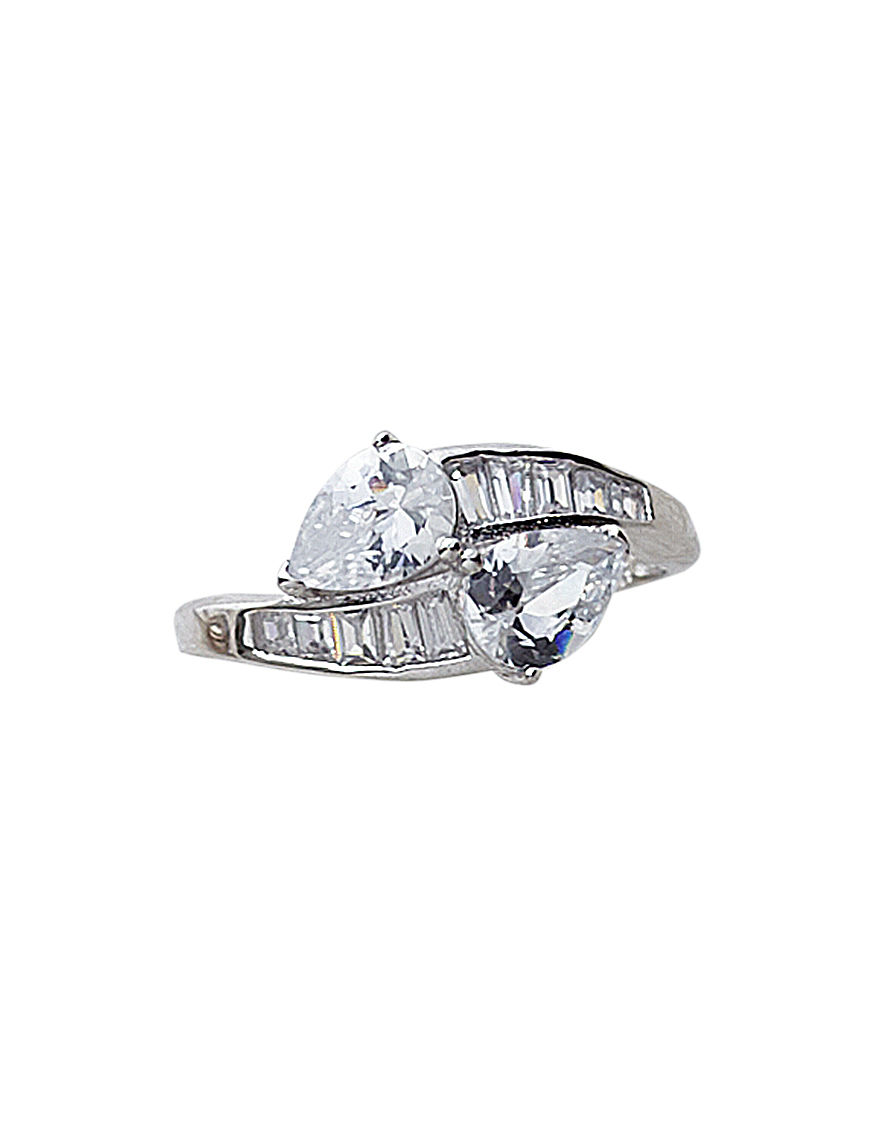 Kencraft White / Silver Rings Fine Jewelry