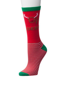 Happy Holidays Red Socks