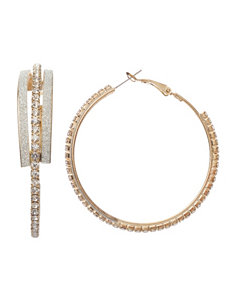 Signature Studio Gold Hoops Earrings Fashion Jewelry