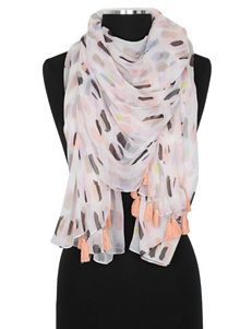 Cejon Multicolor Abstract Print Tassel Scarf