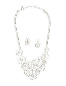 Hannah 2-pc. Floral Design Earrings & Necklace Set