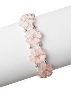 Hannah Pink Cab Stone Floral Slip-on Bracelet