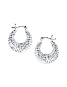 Kencraft Silver Hoops Earrings Fine Jewelry