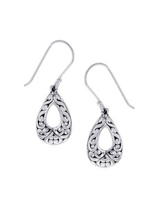 Kencraft Silver Drops Earrings Fine Jewelry