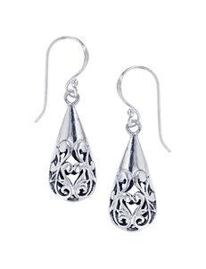 Kencraft Silver Drops Earrings Fine Jewelry