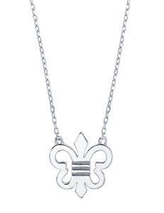 Kencraft Sterling Silver Fleur-de-Lis Necklace
