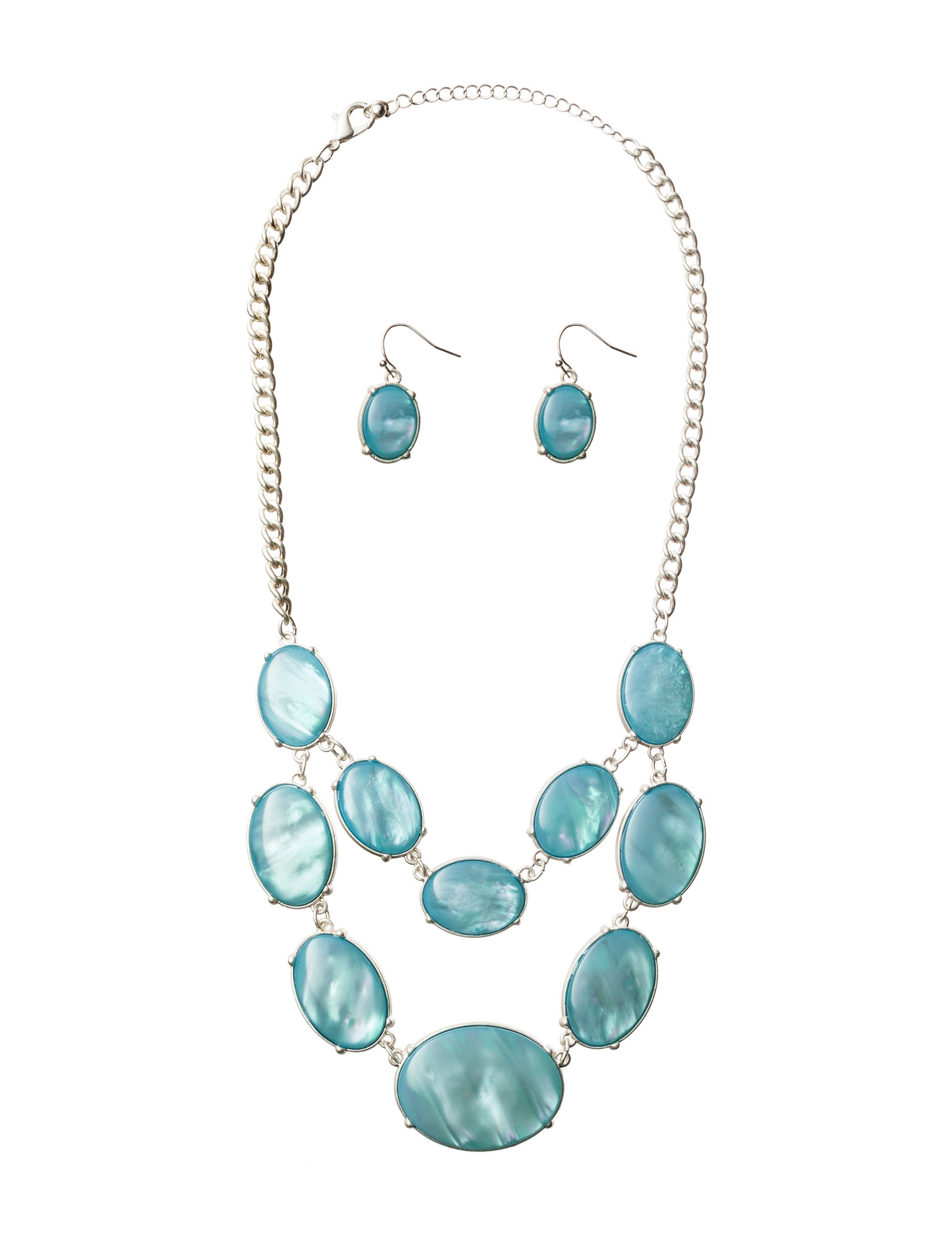Hannah Blue Drops Earrings Necklaces & Pendants Fashion Jewelry