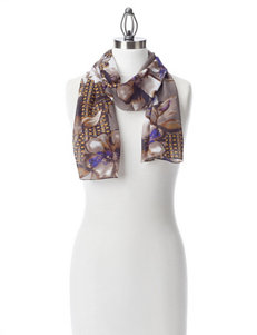 Basha Purple / Grey Scarves & Wraps