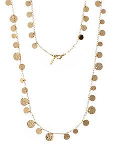 Nine West Hammered Disc Necklace