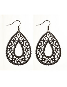 Hannah Black Drops Earrings Fashion Jewelry