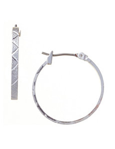 Napier Silver Hoops Fashion Jewelry