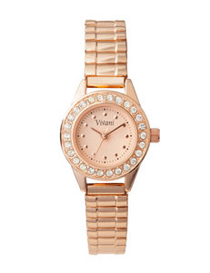 Accutime Rose / Gold Fashion Watches