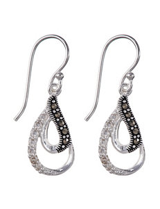 Marsala Black / Silver Earrings Fine Jewelry