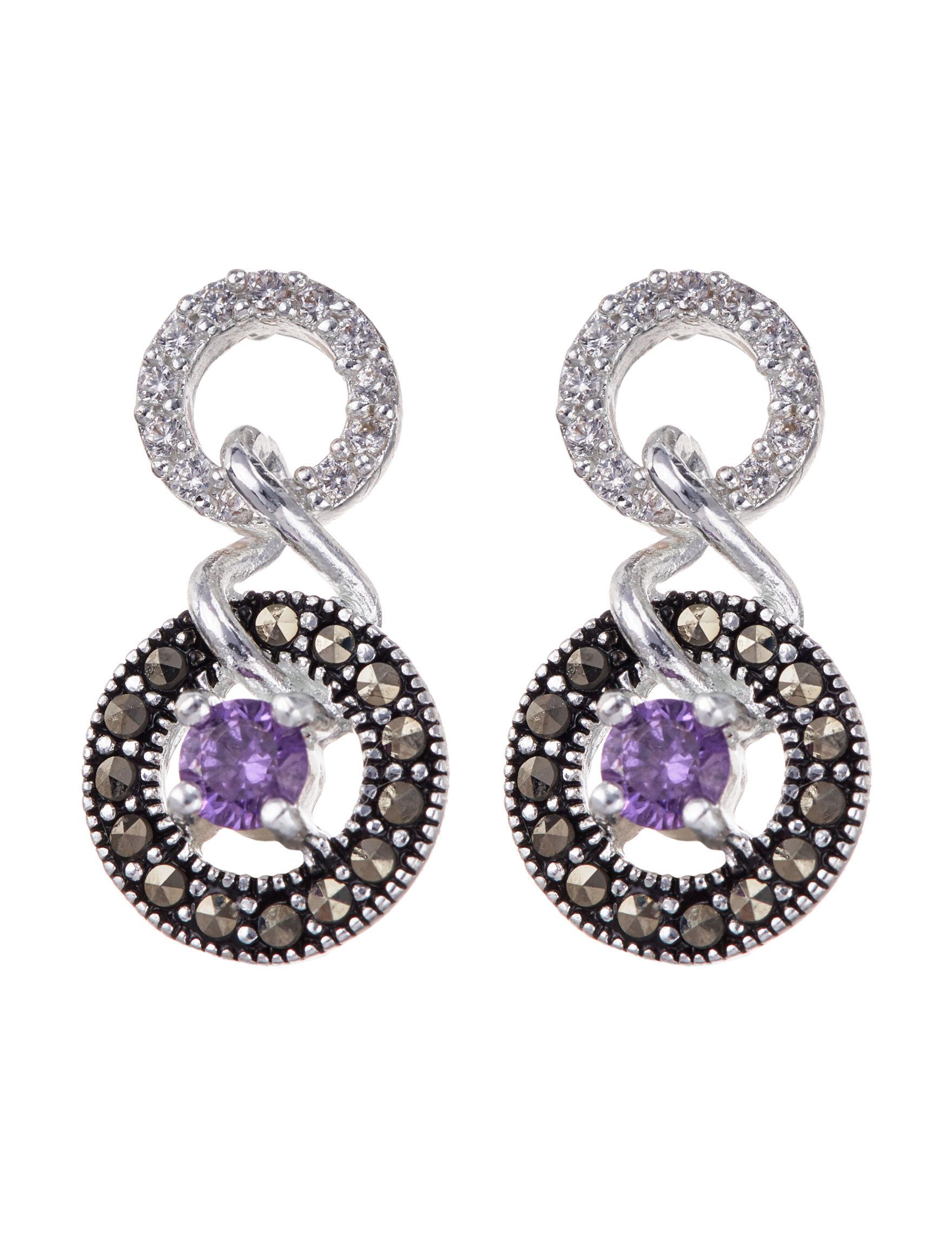 Marsala Black /  White Earrings Fine Jewelry