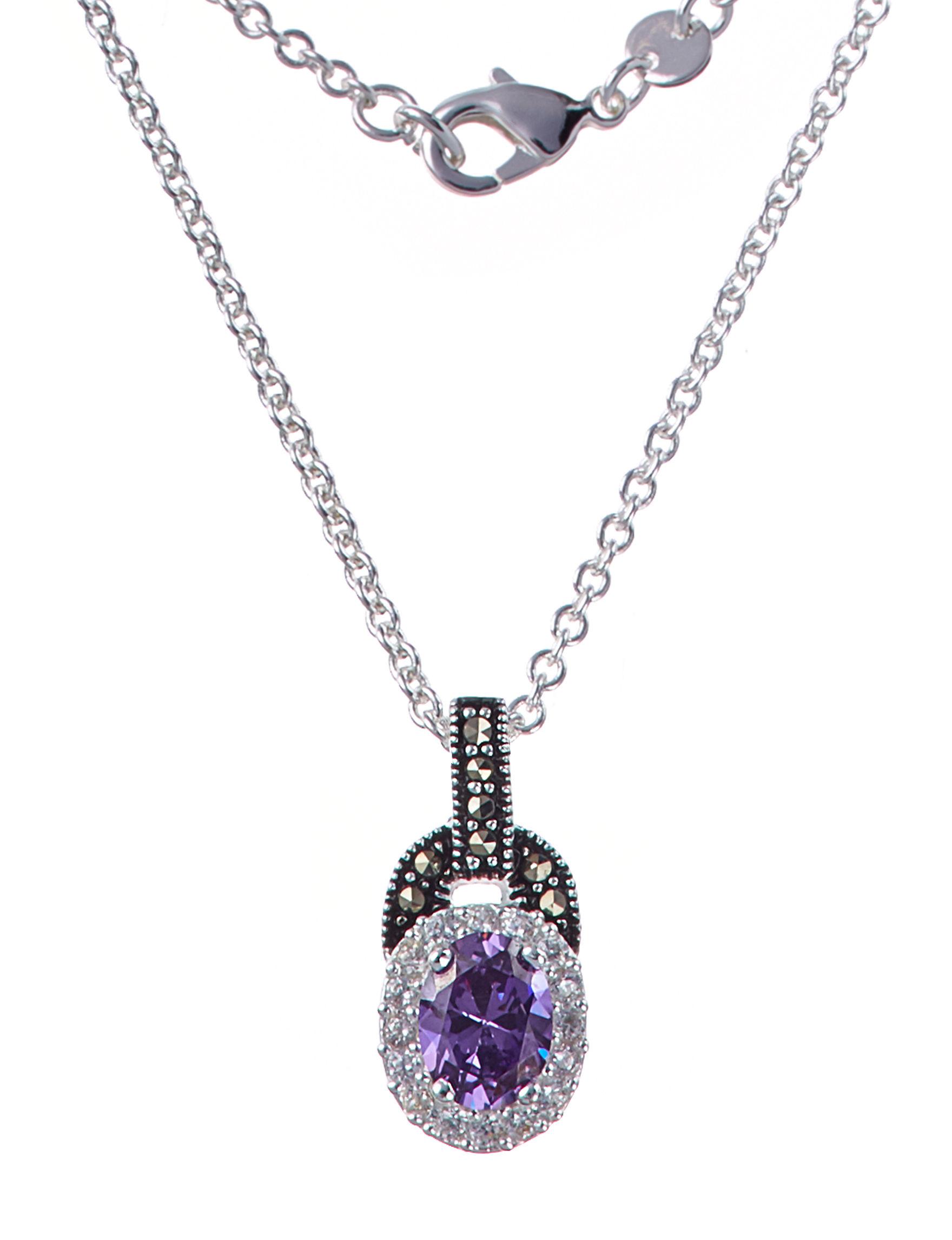 Marsala Black /  White Necklaces & Pendants Fine Jewelry