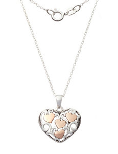 Sterling Silver Openwork Heart Necklace
