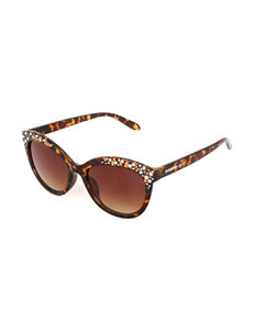 Madden Girl Rhinestone Cat Eye Sunglasses