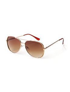 Signature Studio Glitter Aviator Sunglasses