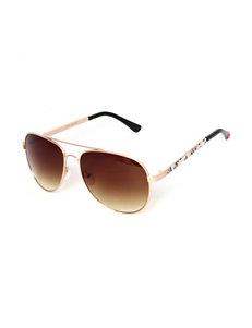 Betsey Johnson Animal Print Aviator Sunglasses