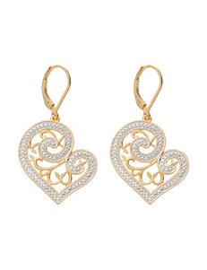 PAJ Inc. Diamond Accent Filigree Heart Earrings