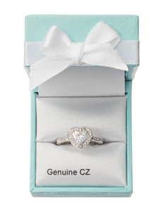 City by City Cubic Zirconia Heart Pave Ring