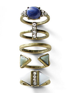 Signature Studio 5-pc. Multicolor Stone Ring Set