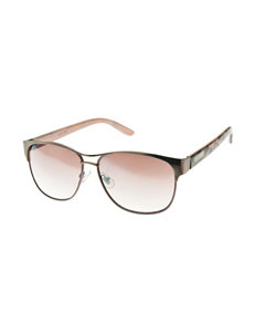 Nine West Mod Retro Rectangle Sunglasses