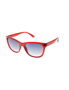 Nine West Linear Detail Retro Rectangle Sunglasses