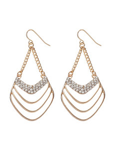 Hannah Brilliance Ridge Chandelier Drop Earrings