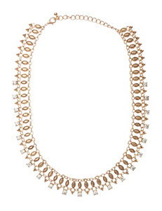 Hannah Chain-Link Crystal Navette Necklace